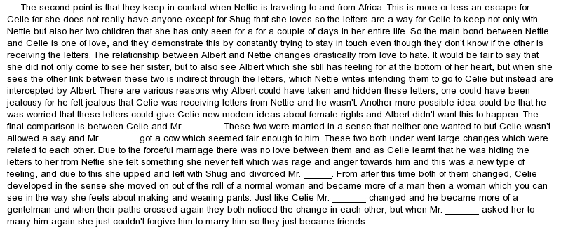 The Color Purple Thesis Statements and Important Quotes