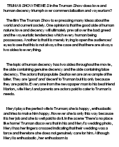 "The Truman Show - ""The Truman Show"" – Unit Aims by sdfwerte"