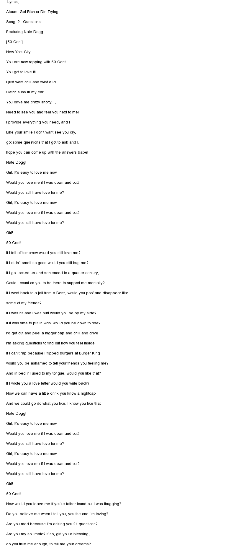 adding song lyrics to an essay