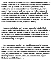 The History of Music Censorship at EssayPedia.com