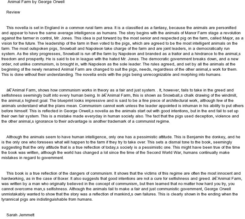 essay about animal farm by george orwell docoments ojazlink orwell essays propaganda essay on animal farm