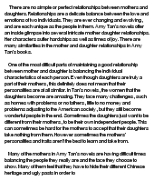 Essay about mother daughter relationships