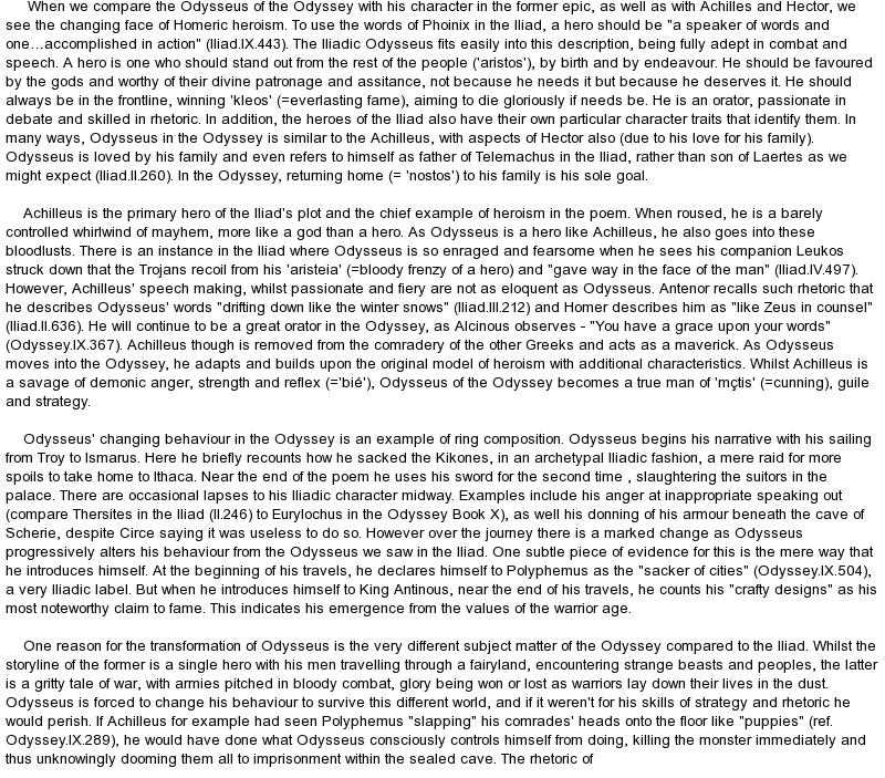 hero essays odysseus