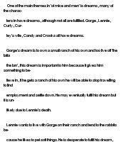 of mice and men essay dreams   how to do a personal essayof mice and men essay on dreams