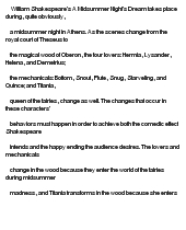 a midsummers night dream essay