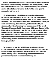 great gatsby color green essay example This is an early example of jordan's unexpectedly clever as part of the great gatsby's themes and to get ideas for essay topics the green.