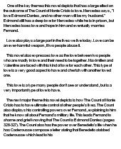 The count of monte cristo essay