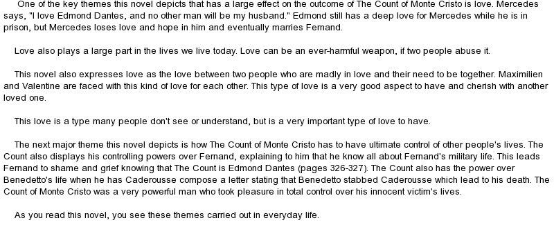 essay revenge count monte cristo Write a critical analysis essay on the count of monte cristo  the count of monte cristo is often called a revenge story, as vengeance is one of its.