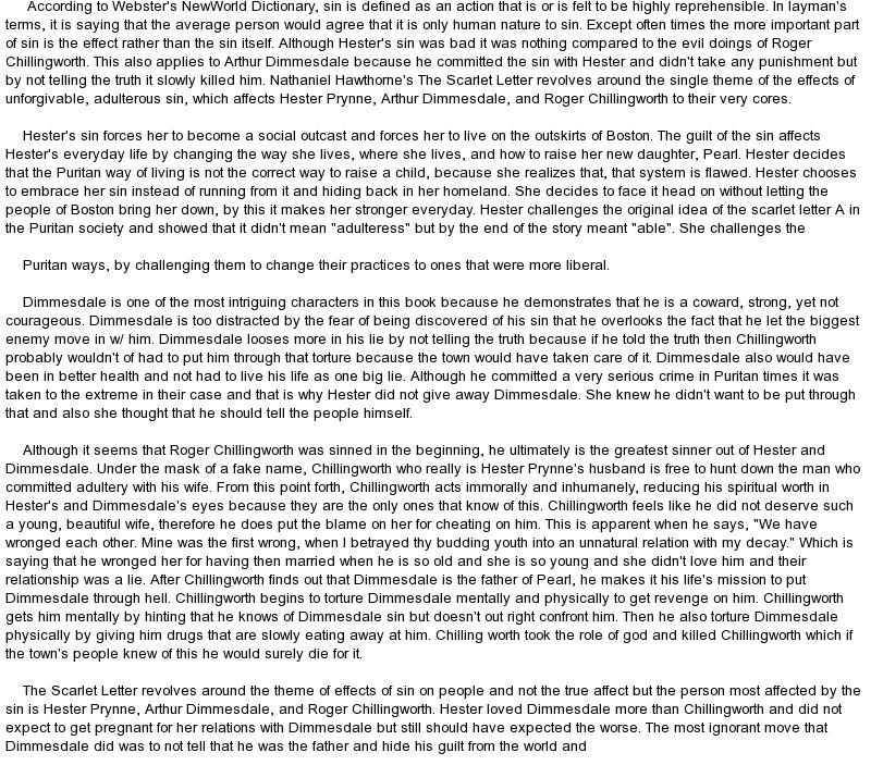 Essays on sin