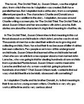 orchid thief essay Prime directives of the unconscious mind essay gabriel thief essay orchid the writer february 6, 2018 @ 5:57 pm feinstein cruz argumentative essays.
