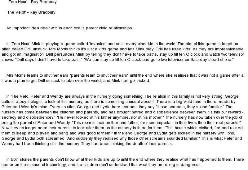 Essay on story of zero