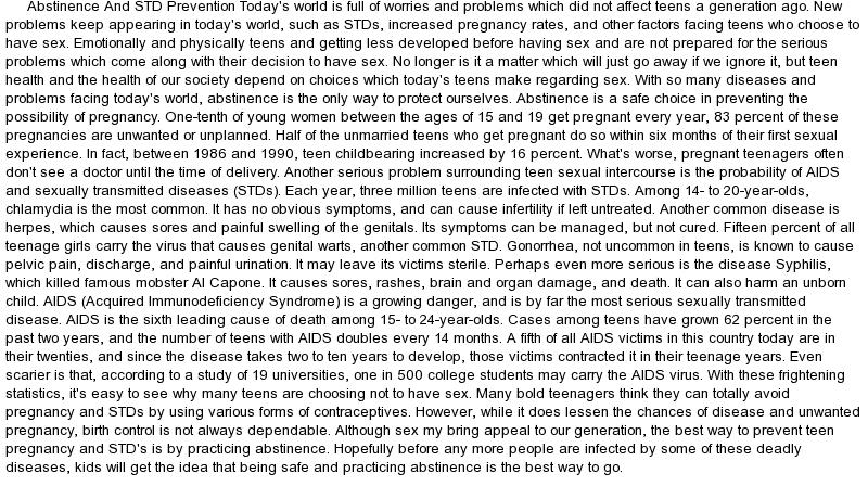 std and aids research paper