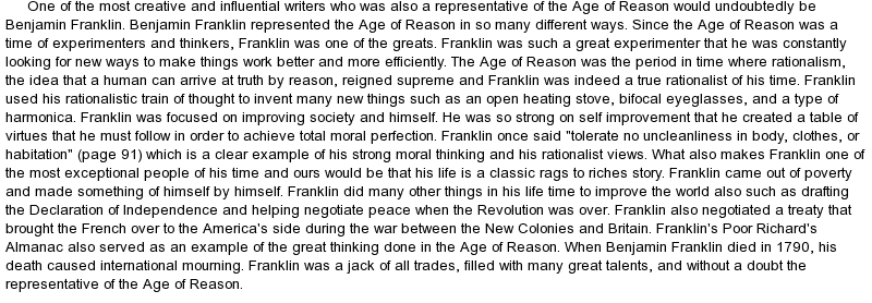 short essay about benjamin franklin Literature term papers (paper 2807) on analysis of the autobiography of benjamin franklin: analysis of the autobiography of benjamin franklin the autobiography of.