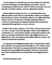 Benedict cultural relativism essay