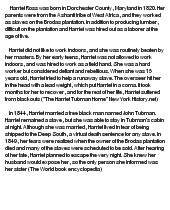 harriet tubman essay You have not saved any essays the legendary harriet tubman was known far and wide for her achievements she was born in 1820 on.