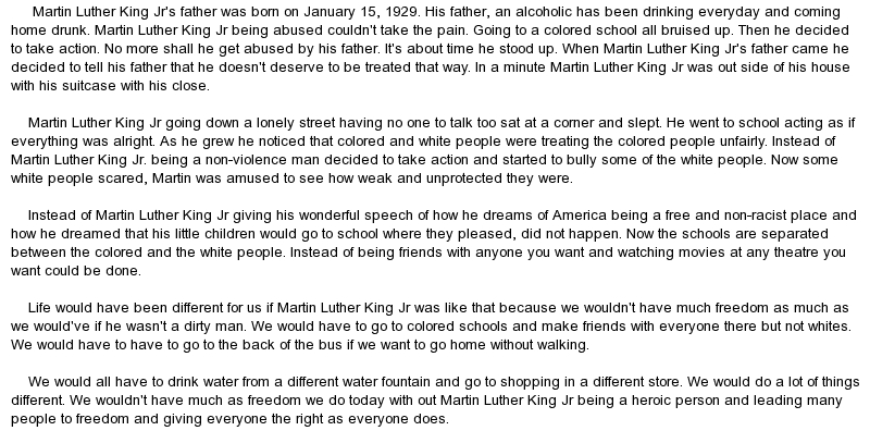 essay martin luther king