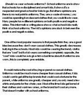 uniforms essay ideas school uniforms essay ideas