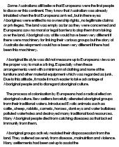 aboriginal colonization essay