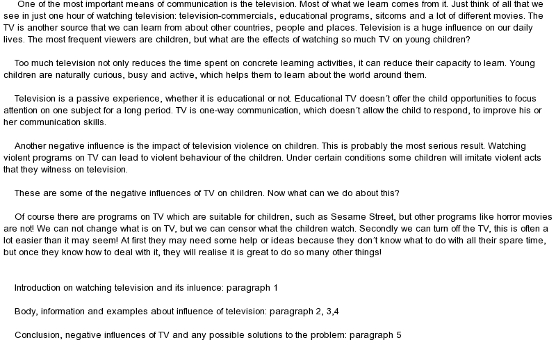 Impact of television on family essay