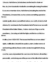 essay on Critical Essay On Andrew Jackson