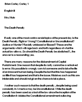 death penalty argumentative essay introduction