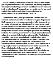 essays on totalitarianism Free essay: rousseau and totalitarianism rousseau clearly promotes totalitarianism in the social contract, and hints at it in a few passages from his second.