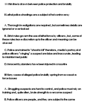 outline on police brutality speech and This memo examines police brutality in the us, including historical context, the current controversy and proposals set forth to address the issue to better integrate his officers into the community by putting them on more bike patrols and encouraging them to walk the beat and speak with residents.