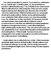 Argumentative essay on police brutality