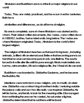 essay on buddhism and jainism Description module 3 essay question: compare and contrast jainism and buddhism what common ground might they share, or what.