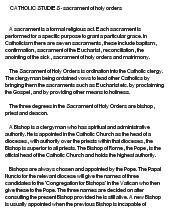 Sacrament of holy orders essay