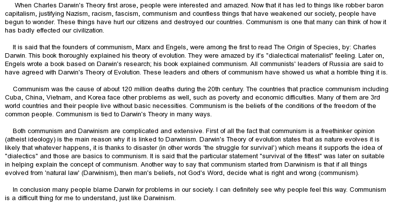 essay about capitalism and communism