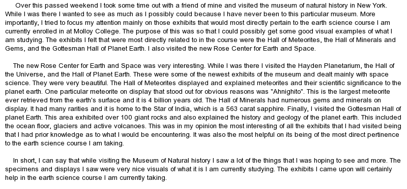 Museum review essay