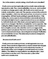 earthworm essay