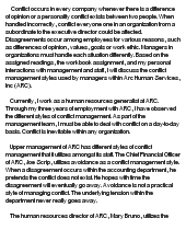 essay questions on conflict management Organizations and conflict management and organizational change this paper will analyze the elements of a conflict.
