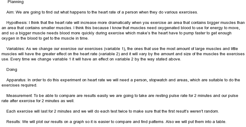 effect of exercise on pulse rate essay Investigate the effect of on exercise on the heart rate essayinvestigate the effect of on exercise on the heart rate aim: to find out if there is any relevant link between the amounts of exercise taken to increase a person heart rate.