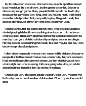 My favorite sports essay