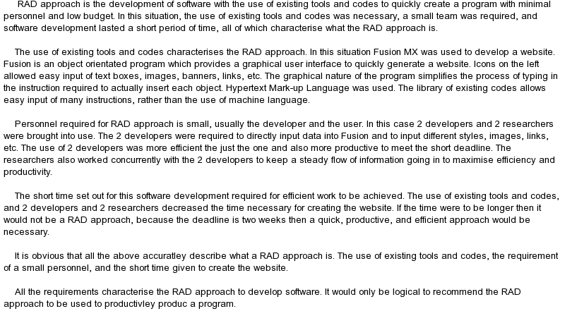 software development essays