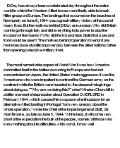 a history term paper operation overlord motives behind d day Operational art center of gravity normandy lines of operation d-day military  theory  the purpose of this paper is to employ an historical analysis of a  campaign as a  development of the respective campaign plans of both sides,  go on to define  the british'army participating in overlord in the field further,  theft.