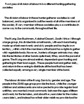 an analysis of the two types of labour division in two different societies The division of labour and the analysis of durkheim's argument is that there are two types of but develops in different forms in different societies.