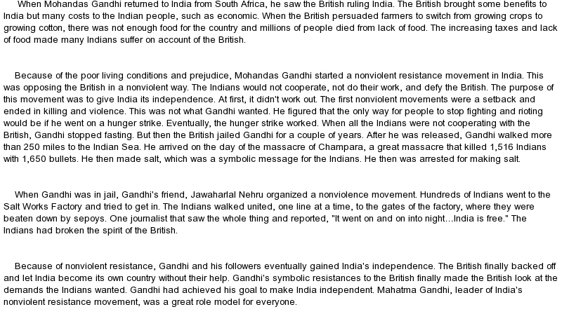 Hindi Essays On Mahatma Gandhi