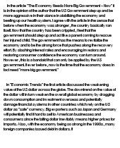 essay on american economy