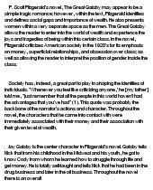 The great gatsby social class essay