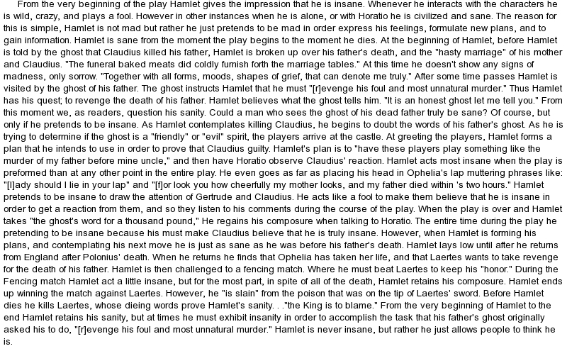 "ophelia essay Introduction before we talk over and deliberate the significance and difference between ophelia and gertrude in ""hamlet"", we should know first a little overview of how this story came about."