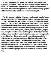 opium as a chinese saga essay Find some chinese sources the what is a good argument / thesis statement on the topic of the opium wars something like the opium wars were entirely good.