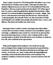 Pride prejudice essay marriage