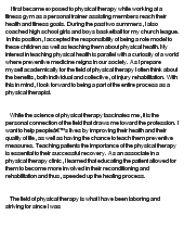 Essay About Physical Therapy | Mistyhamel