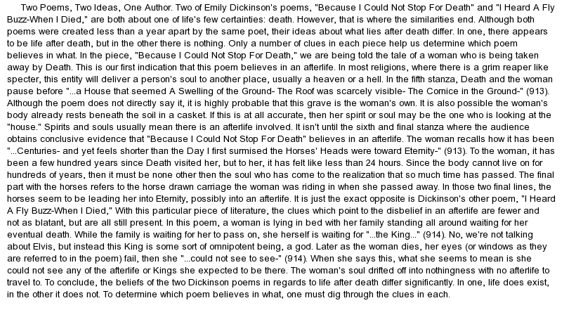 research paper on emily dickinson and death