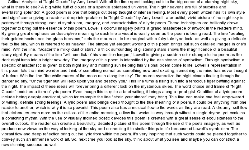 critical analysis of poetry essay