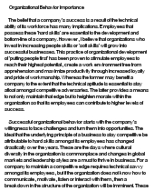 the importance of organizational behavior essay Organizational behaviour (ob) is a field of study that investigates the impact that individuals, groups, and structure have on behavior within organizations for the purpose of applying such knowledge toward improving organization's effectiveness (robbins and judge, 2011).