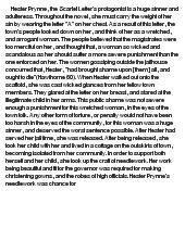 Scarlet Letter Hester Prynne